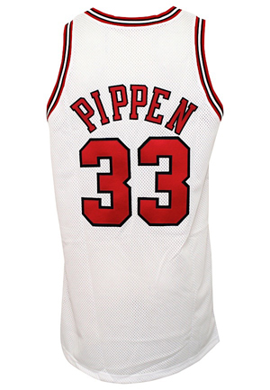 1997-98 Scottie Pippen Chicago Bulls Game-Used Home Jersey (Championship Season)
