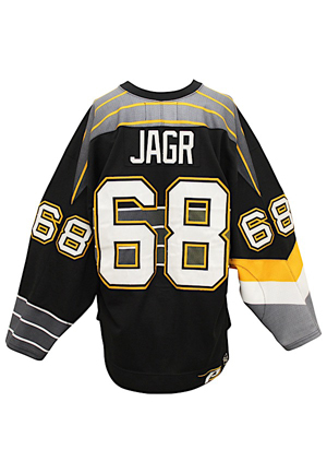 2000 Jaromir Jagr Pittsburgh Penguins Game-Used Alternate Jersey