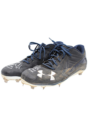 2016 Aaron Judge New York Yankees Game-Used & Autographed Rookie Cleats (JSA)