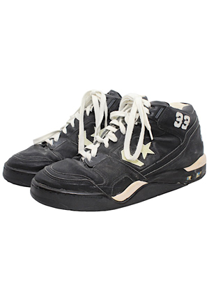 Circa 1990 Larry Bird Boston Celtics Game-Used & Autographed Sneakers (JSA)
