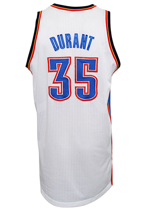 2012-13 Kevin Durant Oklahoma City Thunder Game-Used Jersey (NBA LOA • Photo-Matched & Graded 10)
