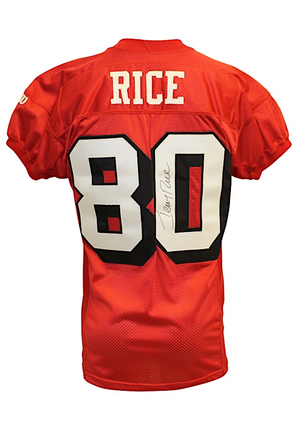 lowest price bfb86 f91b4 Lot Detail - 1995 Jerry Rice San Francisco 49ers Playoffs ...