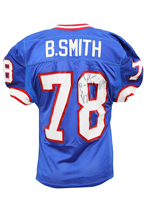 1997 Bruce Smith Buffalo Bills Game-Used & Autographed Jersey (JSA • Photo-Matched To Multiple Games • Graded 10)