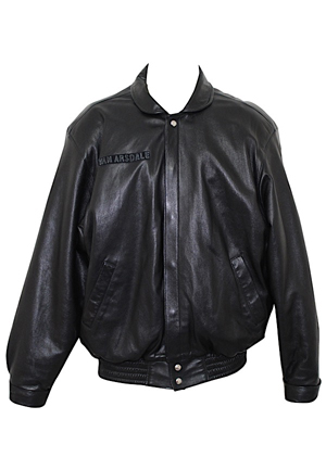 Dick Van Arsdale Phoenix Suns Jeff Hamilton Personal Leather Jacket (Sourced From Van Arsdale)