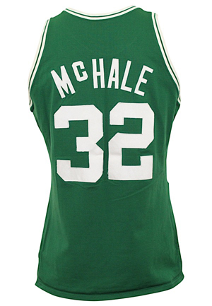 1987-88 Kevin McHale Boston Celtics Game-Used Knit Road Jersey
