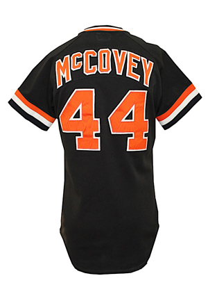 1980 Willie McCovey San Francisco Giants Game-Used Black Alternate Jersey (Photo-Matched & Graded 10)