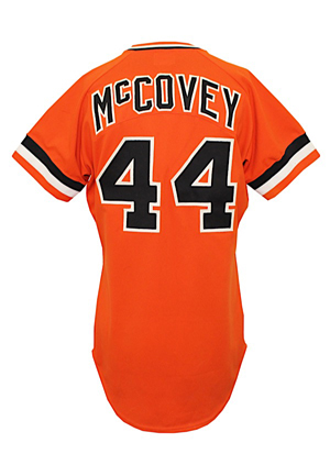 1978 Willie McCovey San Francisco Giants Game-Used Orange Jersey (Apparent Match To His Actual 500 Home Run At Bat • Graded 10)