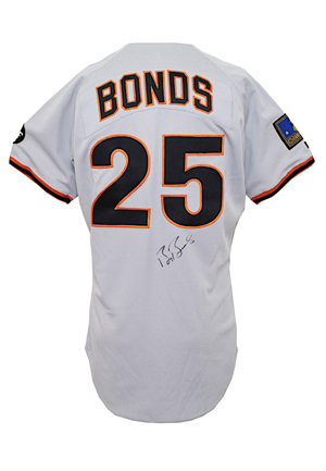 1994 Barry Bonds San Francisco Giants Game-Used & Autographed Road Jersey (CFS & 125th Anniversary Patch)