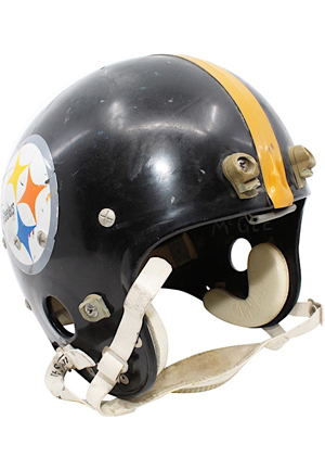 Circa 1970 Ben McGee Pittsburgh Steelers Game-Used Suspension Helmet