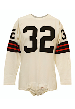 Early 1960s Jim Brown Cleveland Browns Game-Used Jersey (Graded 9)