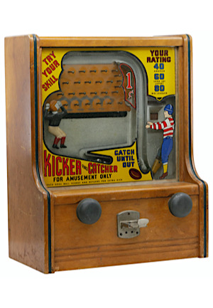 1930s Vintage Kicker Catcher Coin Operated Machine