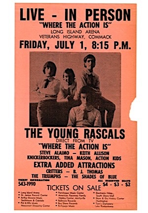 """The Young Rascals"" ""Where The Action Is"" Paper Advertisement Piece"