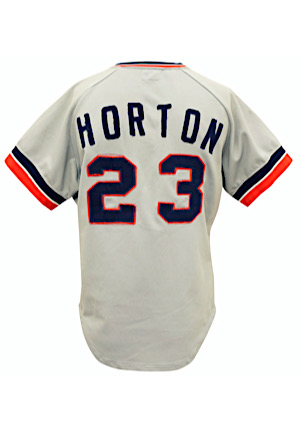 1973 Willie Horton Detroit Tigers Game-Used & Autographed Road Jersey (Graded 9+ • Outstanding Wear & Customized Neck)