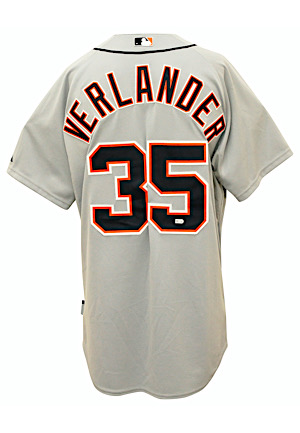2013 Justin Verlander & Max Scherzer Detroit Tigers Team-Issued Spring Training Jerseys (2)(MLB Authenticated)