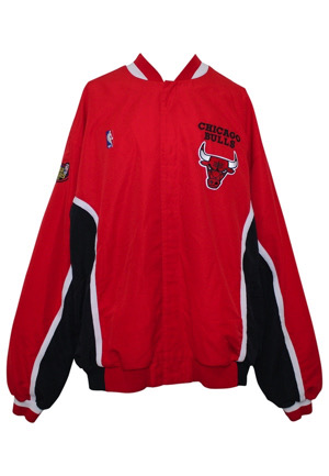 1998 Dennis Rodman Chicago Bulls NBA Finals Game 6 Game-Used Warm-Up Jacket (Championship Season • Sourced From Ball Boy)