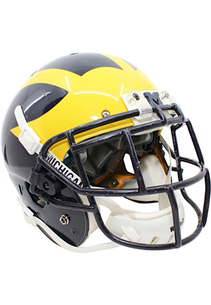 2014 Jourdan Lewis Michigan Wolverines Game-Used Helmet