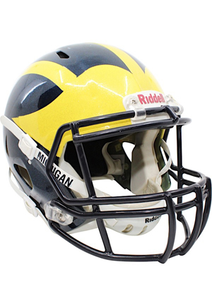 "2013 Michigan Wolverines Game-Used ""Under The Lights Part 2"" Helmet #27"