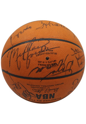 1984-85 Chicago Bulls Team-Signed Basketball Including Rookie Michael Jordan (Full JSA & PSA/DNA)