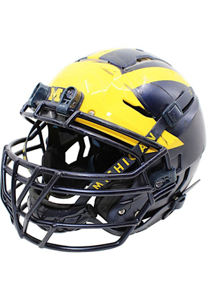 2017 Aubrey Solomon Michigan Wolverines Game-Used Helmet