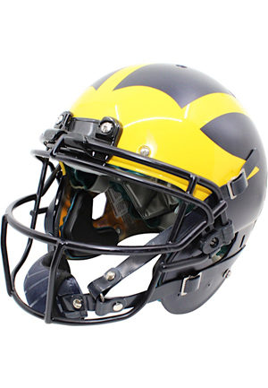 2017 Michigan Wolverines Game-Used Helmet #18