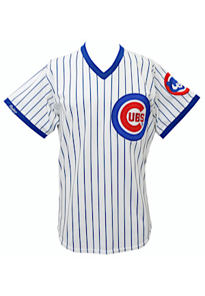 1988 Mark Grace Chicago Cubs Rookie Game-Used Home Jersey