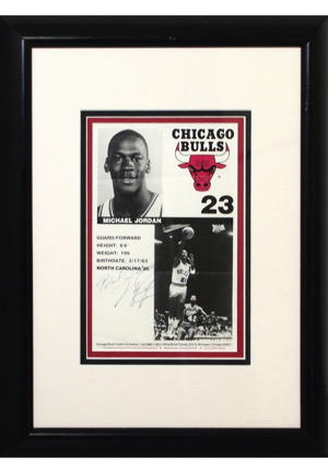 Michael Jordan Chicago Bulls Rookie Era Autographed Framed Player Card (Sourced From Bulls Assistant Coach • Full JSA)