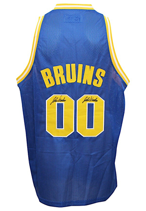 John Wooden UCLA Bruins Quadruple-Signed Replica Jersey (JSA)