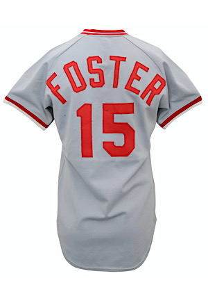1981 George Foster Cincinnati Reds Game-Used Road Jersey (Graded 10)