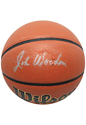 John Wooden Single-Signed Wilson Basketball (JSA)