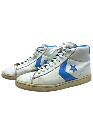 Circa 1982 Michael Jordan North Carolina Tar Heels Game-Used & Dual-Autographed Converse Shoes (Basketball HOF LOA • Sourced From Sothebys Via MJs Cousin • Full JSA)