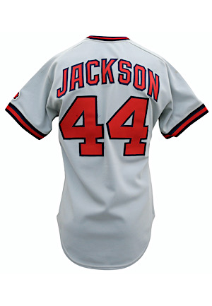 1980s Reggie Jackson California Angels Game-Used & Autographed Road Jersey