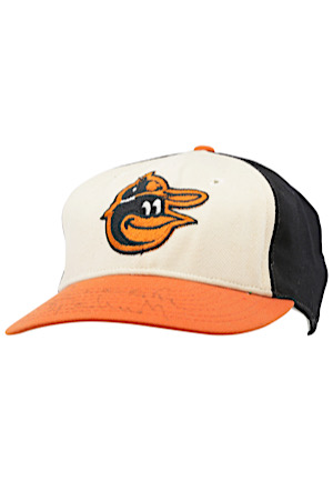 Circa 1976 Brooks Robinson Baltimore Orioles Game-Used & Autographed Cap (J.T. Sports)