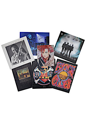 Grouping Of Autographed Albums & Pictures With Vintage Tour Books Including Bon Jovi, Pink Floyd, George Benson & More (7)