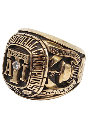 1974 Texas A&I National NAIA Championship Football Ring