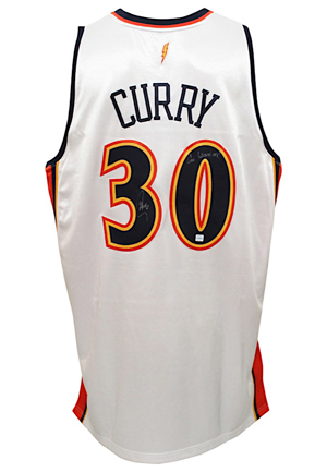Stephen Curry Golden State Warriors Autographed Jersey (JSA • Curry Authenticated Sticker)