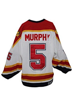 Circa 1996 Gord Murphy Florida Panthers Game-Used Jersey (Repairs)