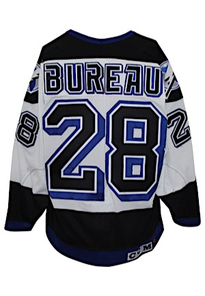 1993-94 Marc Bureau Tampa Bay Lightning Game-Used Jersey