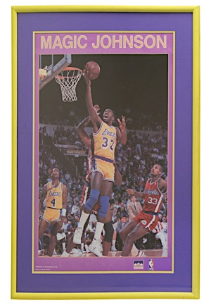 Magic Johnson Autographed Oversized Poster (JSA)
