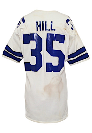 Early 1970s Calvin Hill Dallas Cowboys Game-Used Jersey (Custom Hand Warmers • Repairs)