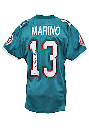 Early 1990s Dan Marino Miami Dolphins Game-Used & Autographed Jersey (Beckett COA)
