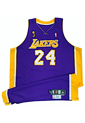 2009 Kobe Bryant Los Angeles Lakers NBA Finals Game-Used Road Jersey (Photo-Matched • NBA LOA • Championship & Finals MVP Season)