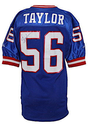 1992 Lawrence Taylor New York Giants Game-Used & Autographed Home Jersey
