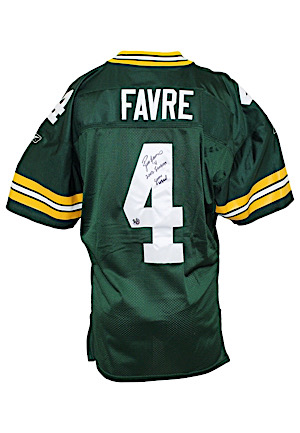 2002 Brett Favre Green Bay Packers Game-Used & Autographed Jersey (Favre LOA)