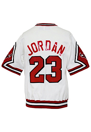 1987-88 Michael Jordan Chicago Bulls Player-Worn Home Shooting Shirt (MVP Season)
