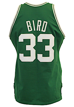 "1985-86 Larry Bird Boston Celtics Game-Used Jersey (Graded 10 • Reg Season & Finals MVP • Possible ""Lefty"" 47 Point Game)"