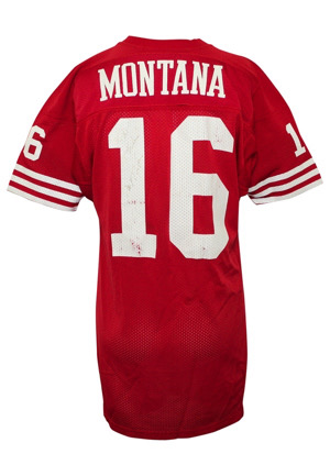 1989 Joe Montana San Francisco 49ers Game-Used & Autographed Home Jersey (Matched To 11/27 3 TD Performance • Shipping Slip From Equipment Manager • MEARS A10 • Full JSA)