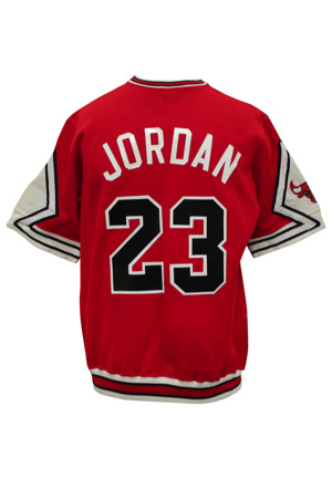 1987-88 Michael Jordan Chicago Bulls Player-Worn Shooting Shirt (MVP Season)