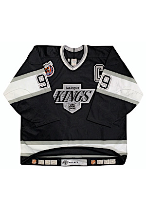 "1992-93 Wayne Gretzky Los Angeles Kings Game-Used & Autographed Road Jersey (Kings LOA • ""SET 2"" Team Tagging • JSA)"