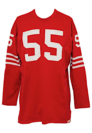 1958-59 Matt Hazeltine San Francisco 49ers Game-Used & Autographed Home Jersey (Repair • Graded 10 • Sourced From Hazeltine)