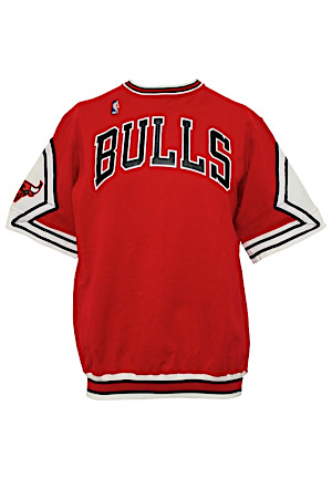 1987-88 Michael Jordan Chicago Bulls Player-Worn Road Shooting Shirt (MVP Season)